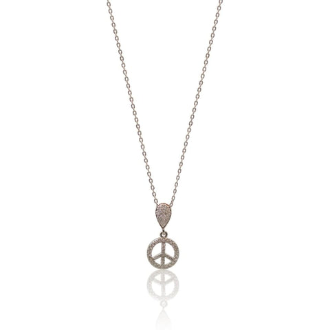 Moonstone Gunmetal Long Chain Necklace