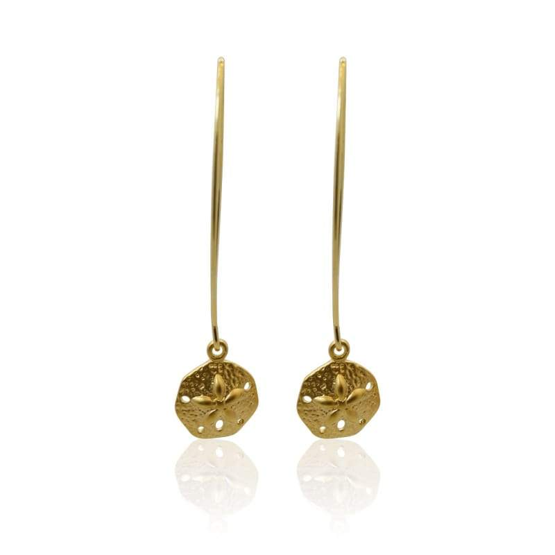 Pair with Sand-Dollar Gold Earrings