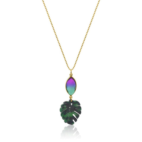 Peacock Aura Wave Necklace