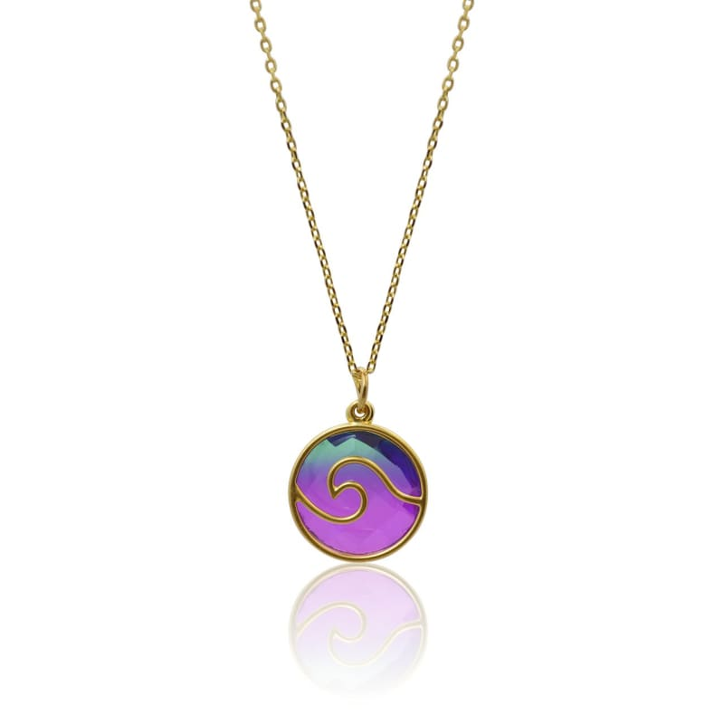 Peacock Aura Wave Necklace 16