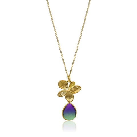 Tropical Aura Drop Necklace - Gold