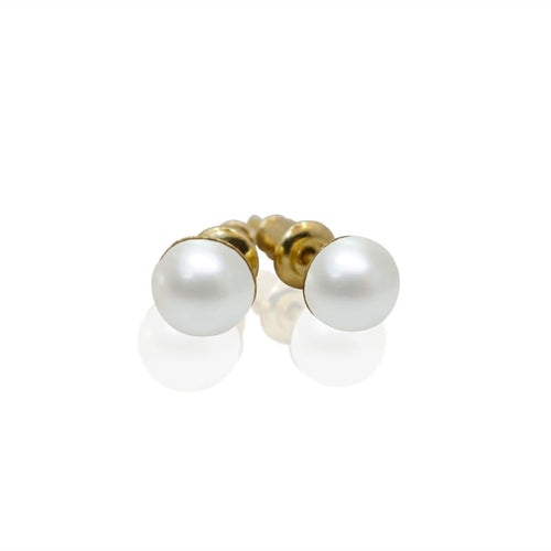 Pearl Studs - Mini Gold earrings