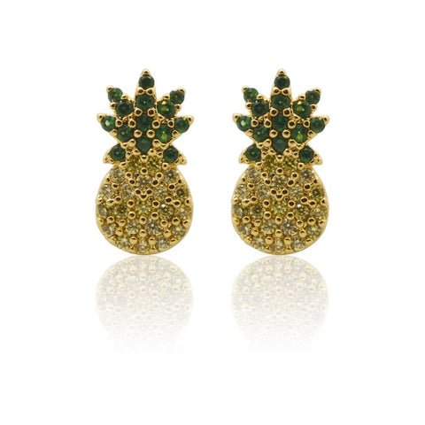 Tropical Aura Marquis Tassel Gold Earrings