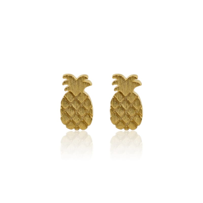 Pineapple Gold Studs - MINI earrings