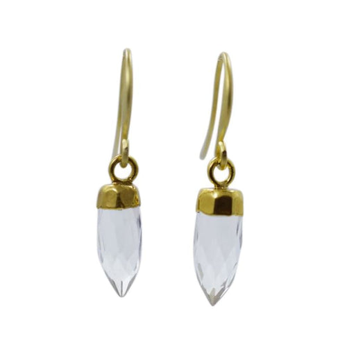 Quartz Mini Spike Earrings Earrings