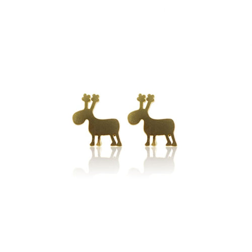 Reindeer Studs - Gold Earrings