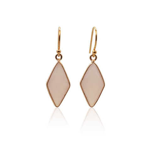 Rose - Pink Chalcedony & Rose Gold Mini Spike Earrings