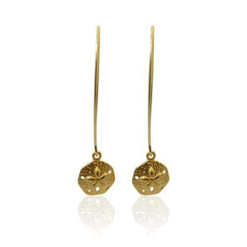 Sand-dollar Gold Earrings