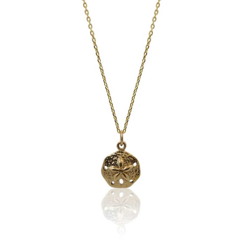 Sand-Dollar Gold Necklace 16