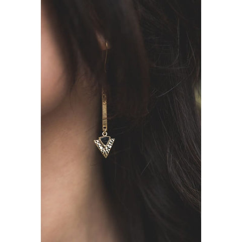 Cube Crystal Necklace - Gold