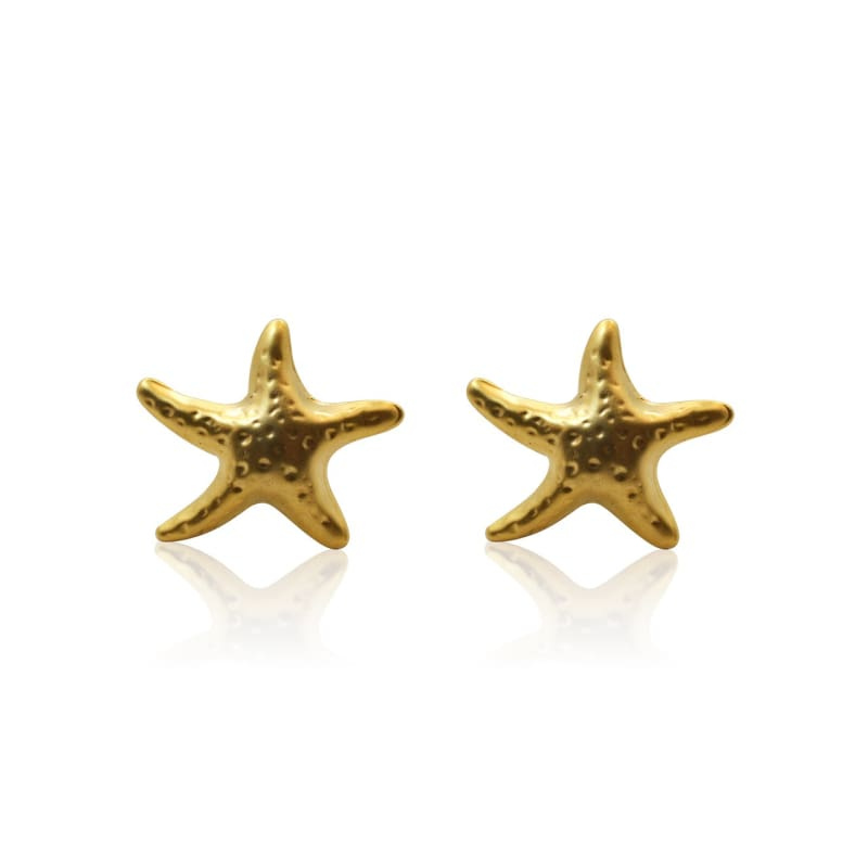 Starfish Studs - Gold earrings