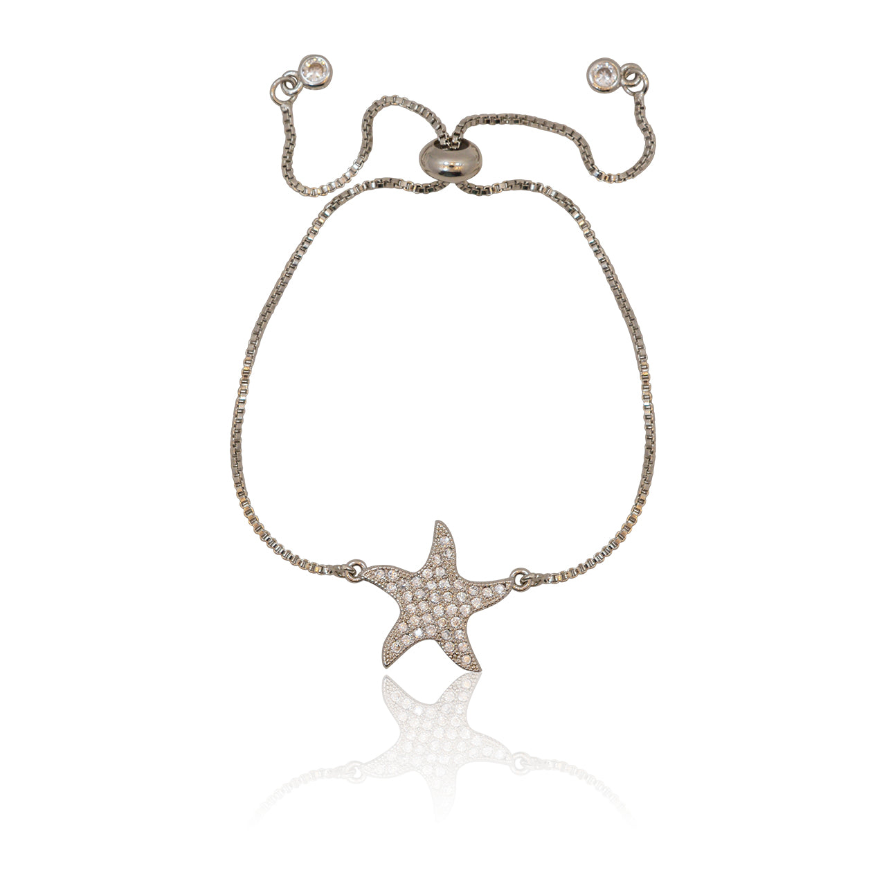 Starfish Crystal Adjustable Bracelet