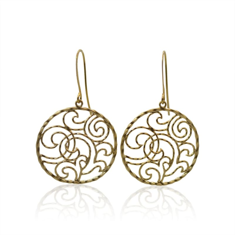 Sundial - Gold Earrings