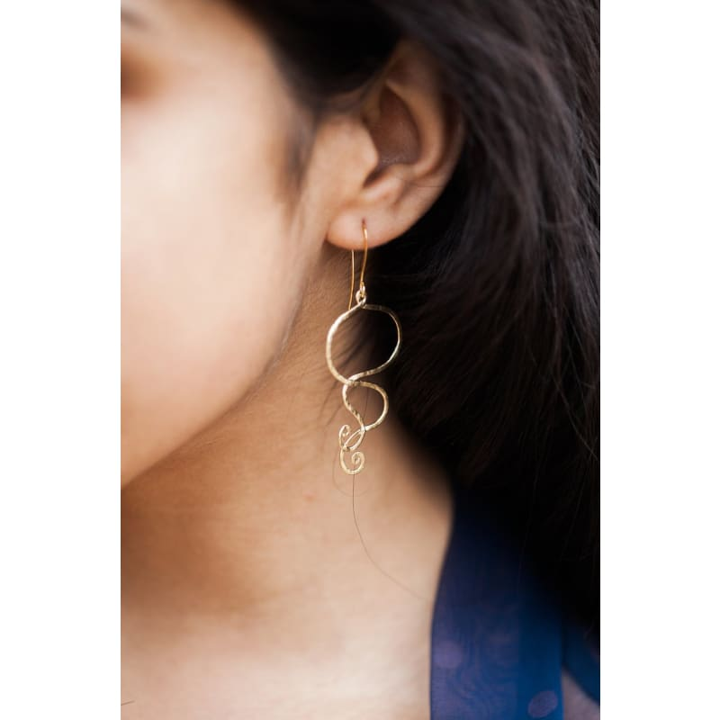 Swirls - Silver Earrings