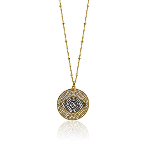 Third Eye Medallion - Medium Gold necklace