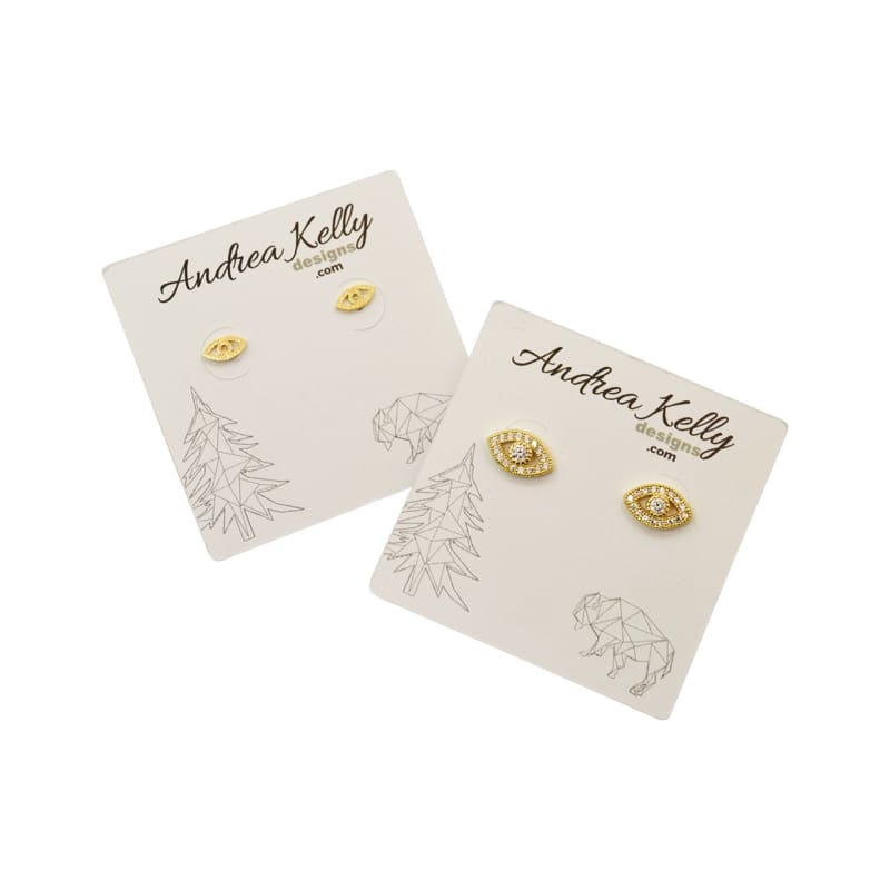 Third Eye MINI Studs - Gold earrings