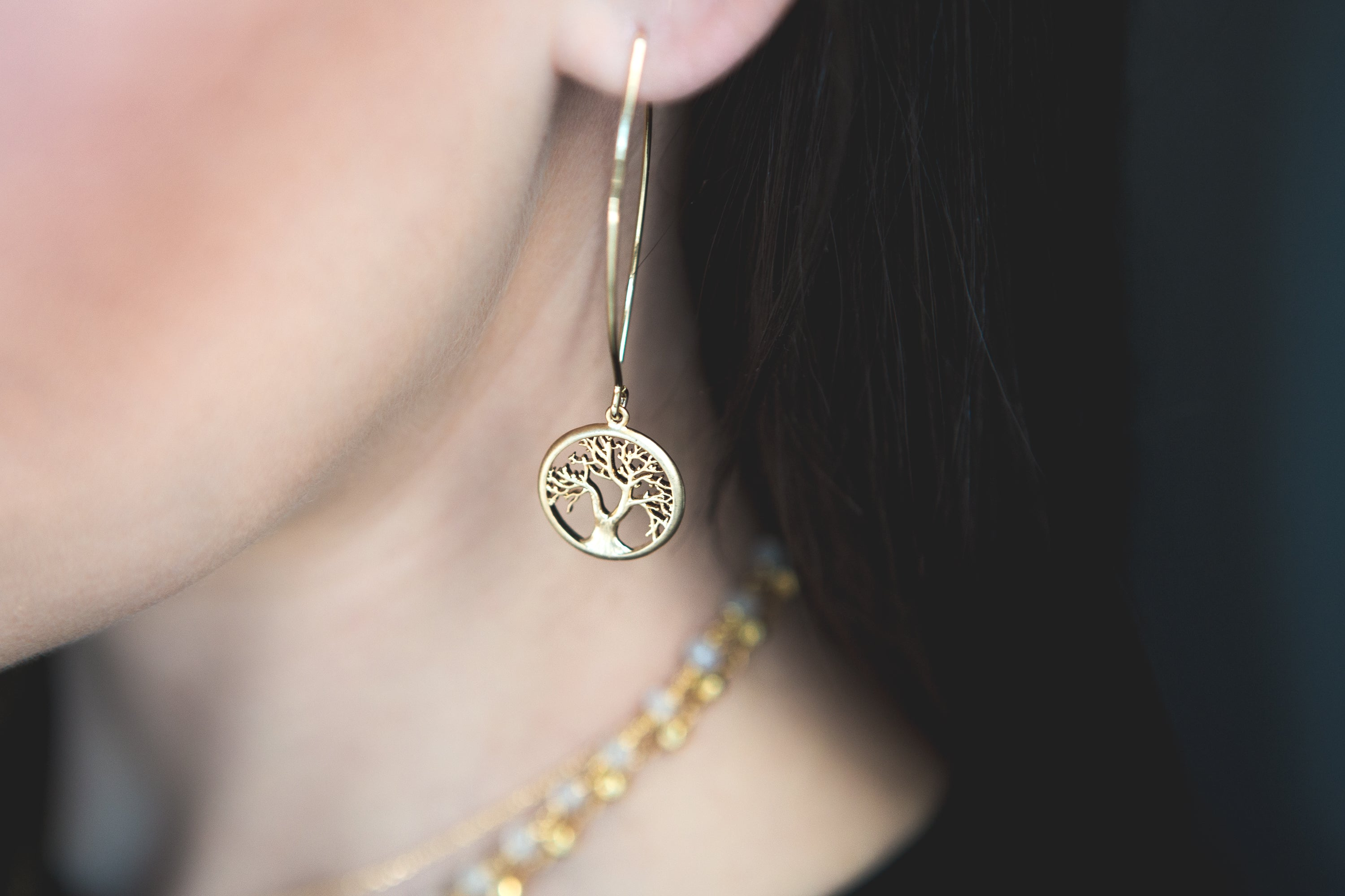 Tree of Life Long Earrings