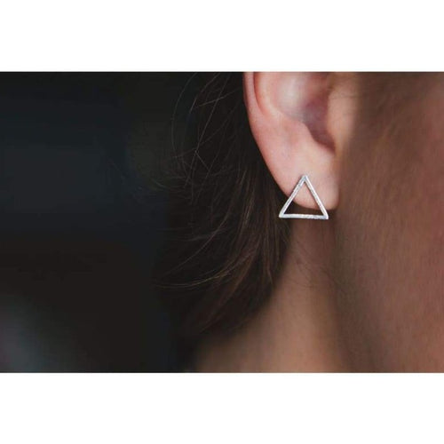 Triangle Stud Earrings - Gold Earrings
