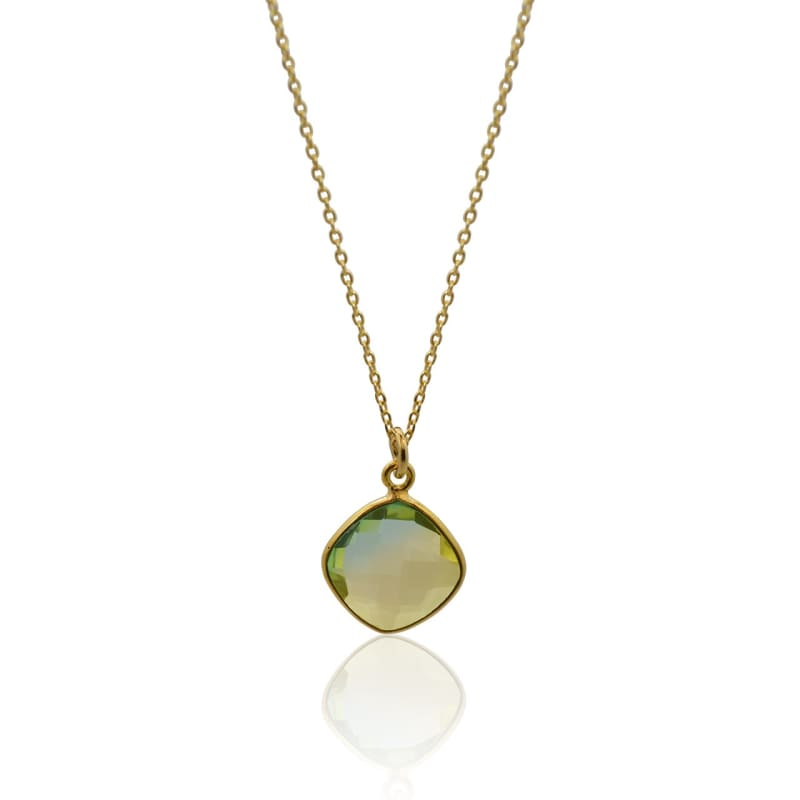 Tropical Aura Diamond Gold Necklace necklace