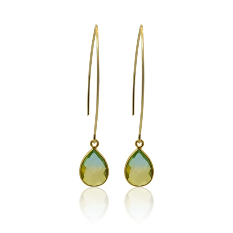 Tropical Aura Drop Earrings - Long Gold earrings