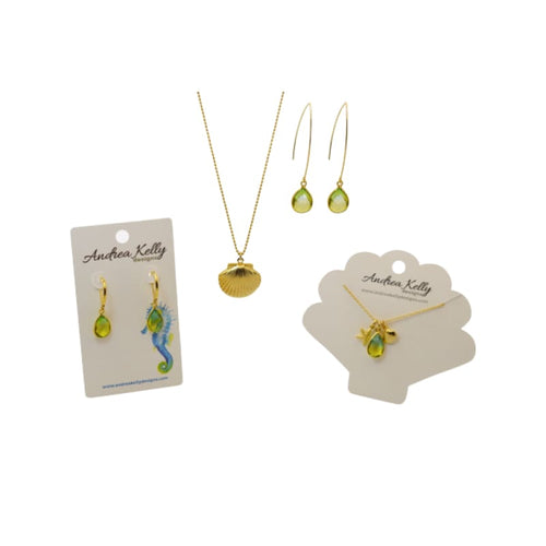 Tropical Aura Drop Earrings - Short Gold earrings