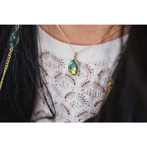 Tropical Aura Drop Necklace - Gold necklace