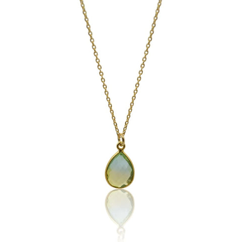 Tropical Aura Palm Leaf Gold Necklace