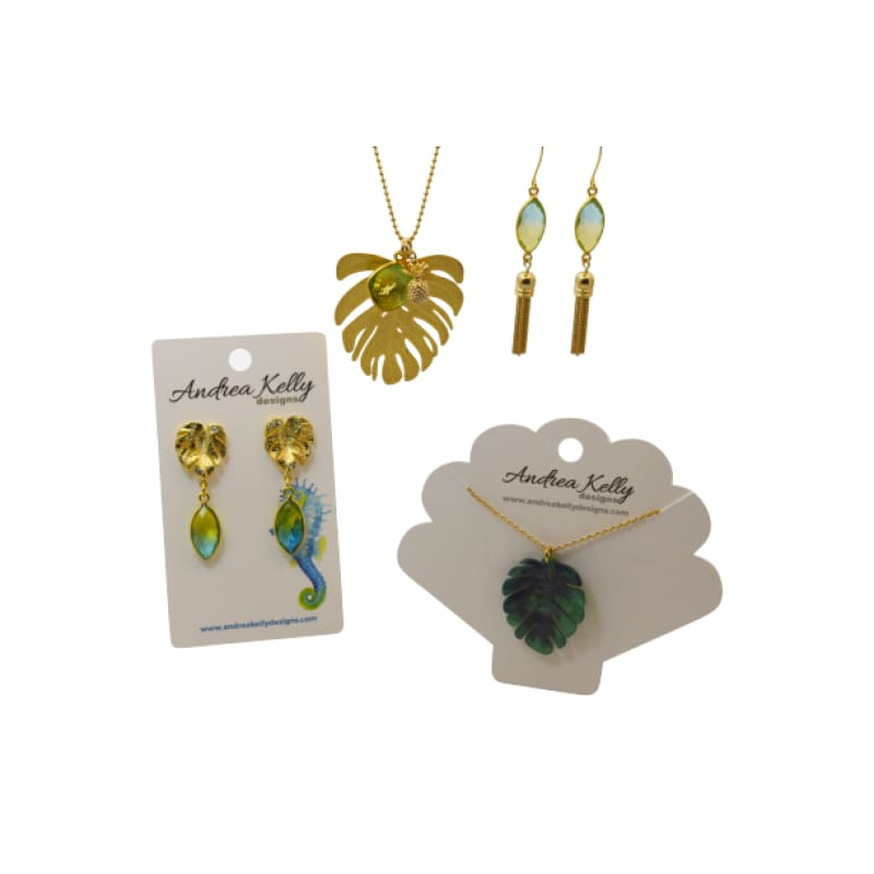 Tropical Aura Marquis Tassel Gold Earrings earrings