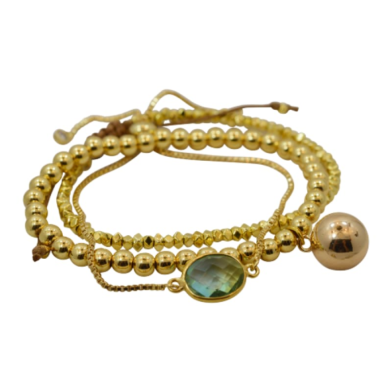 Tropical Aura Oval Gold Adjustable Bracelet bracelet