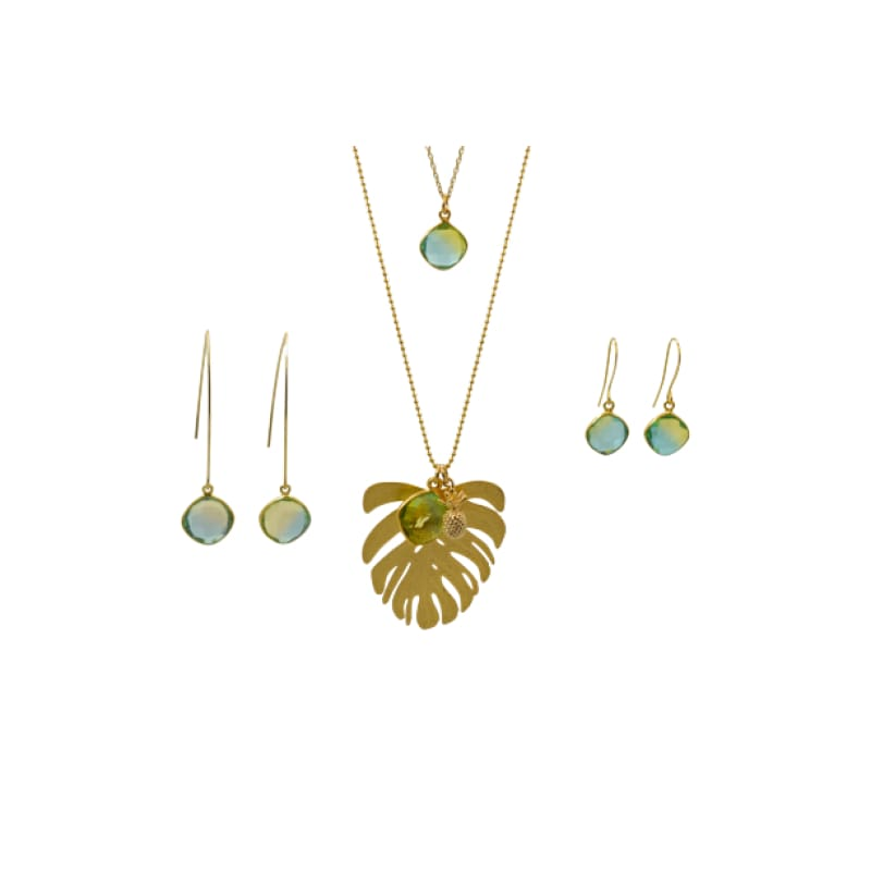 Tropical Aura Palm Leaf Gold Necklace necklace