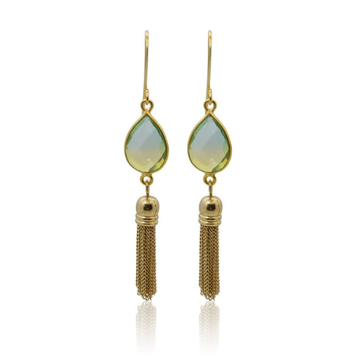 Tropical Aura Tassel Gold Earrings earrings