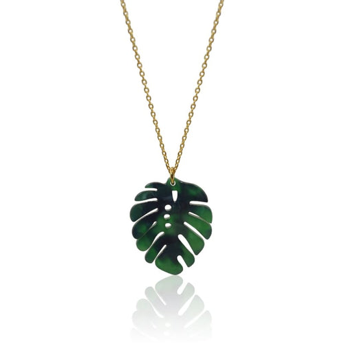 Tropical Leaf Necklace 16