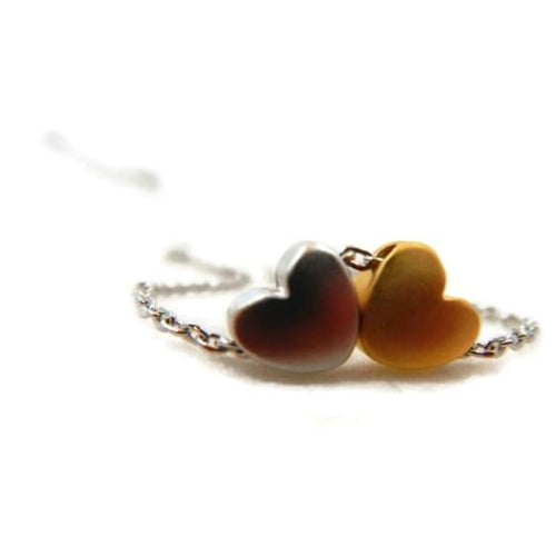 Two Hearts Necklace Necklace