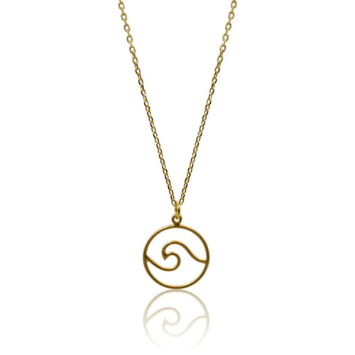 Wave Gold Necklace 16
