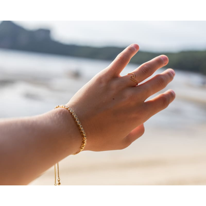 Wave Ring - Gold ring
