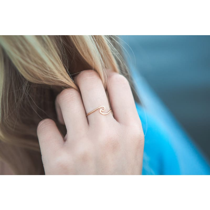 Wave Ring - Gold - Size 6 Ring