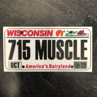 Wisconsin 715 MUSCLE License Plate Sticker.