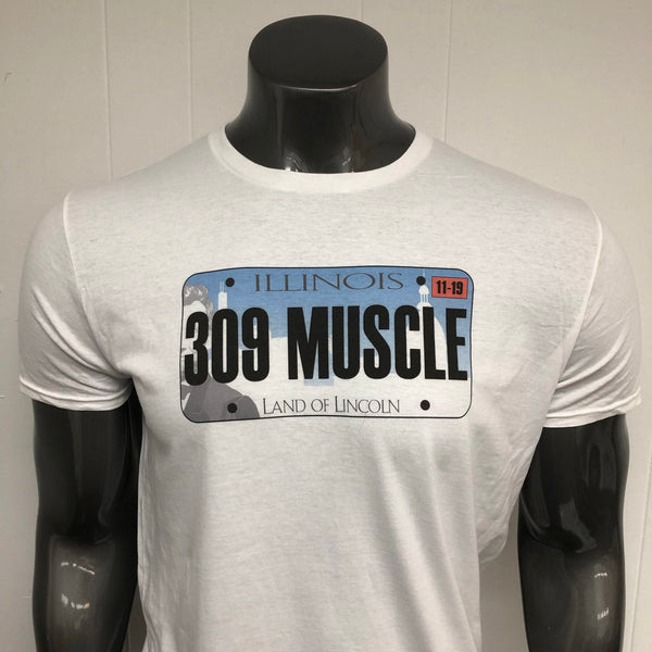 Illinois 309 MUSCLE License Plate shirt.