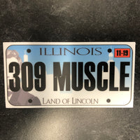 Illinois 309 MUSCLE License Plate Sticker.
