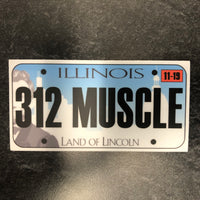 Illinois 312 MUSCLE License Plate Sticker.