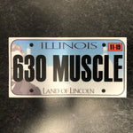 Illinois 630 MUSCLE License Plate Sticker.