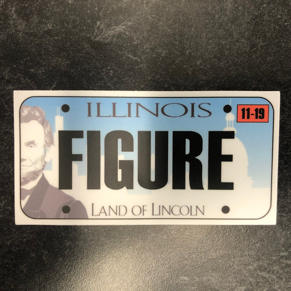 Illinois FIGURE License Plate Sticker.