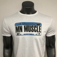 Minnesota License Plate MUSCLE shirt.