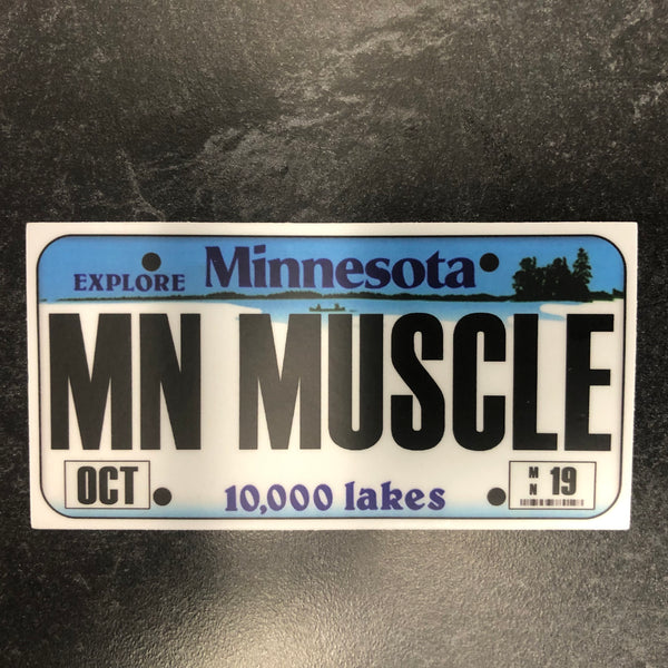 Minnesota MN MUSCLE License Plate Sticker.