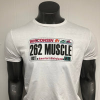 Wisconsin 262 MUSCLE License Plate shirt.