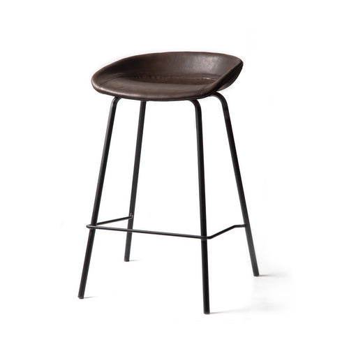 ZEIL Lowback Kitchen Bar Stool - Pecan