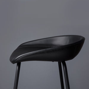ZEIL Lowback Kitchen Bar Stool Black  Edit alt text
