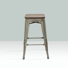ELI Bar Stool Timber Seat - Grey
