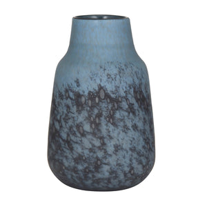 ELINA Frosted Glass Vase Blue large