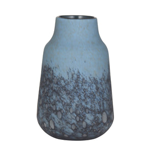 ELINA Frosted Glass Vase Blue medium